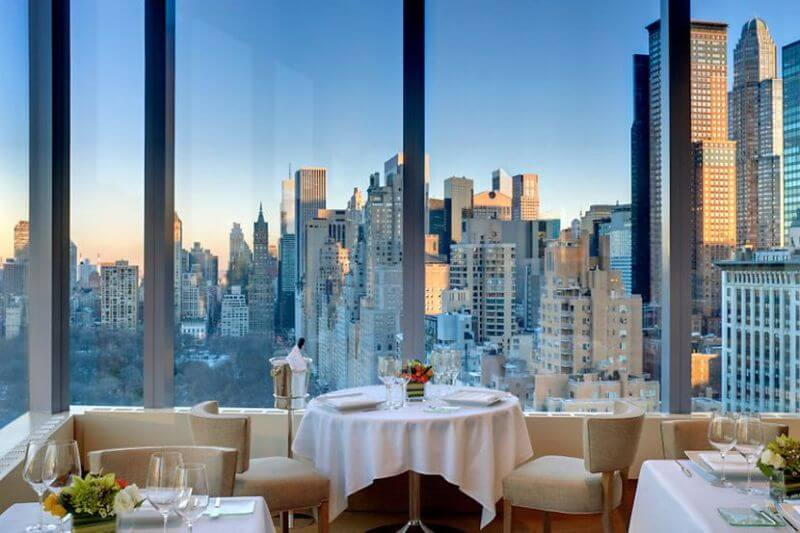 best restaurant views, Asiate, New York