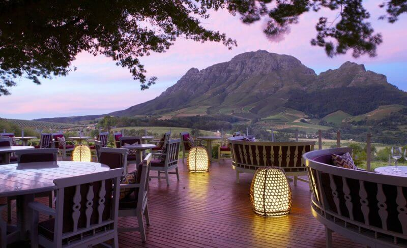 best restaurant views, Delaire Graff Restaurant, South Africa