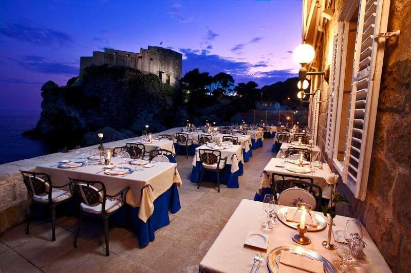 best restaurant views, Nautika, Dubrovnik, Croatia