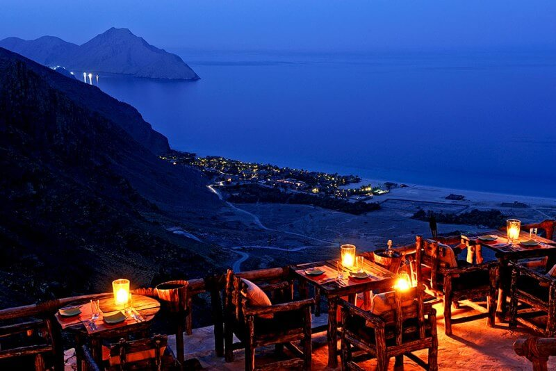 best restaurant views, Sense on the Edge, Oman