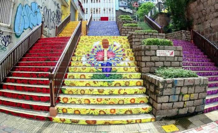 Flower Stairs, Yau Ma Tei