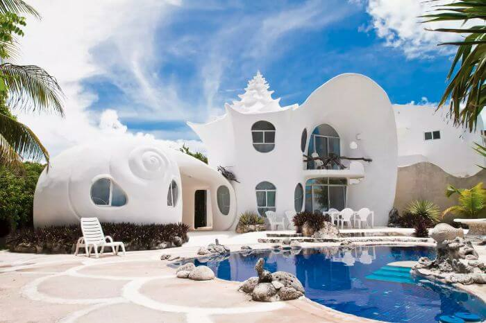 Seashell House at Isla Mujeres, Mexico