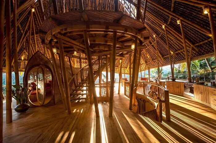 Sunrise 'All-Bamboo' House at Abiansemal in Bali, Indonesia interior