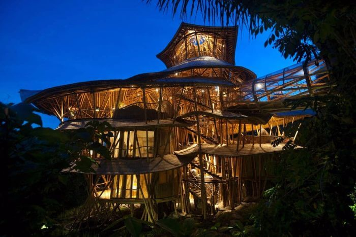 Sunrise 'All-Bamboo' House at Abiansemal in Bali, Indonesia