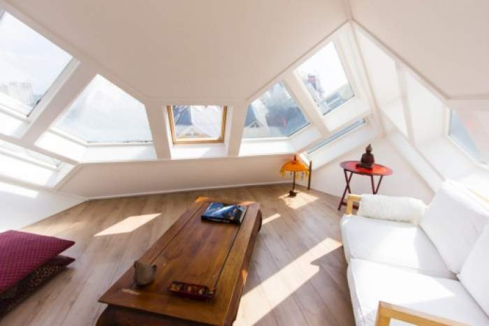 interior of Cube house in Rotterdam, Netherlands