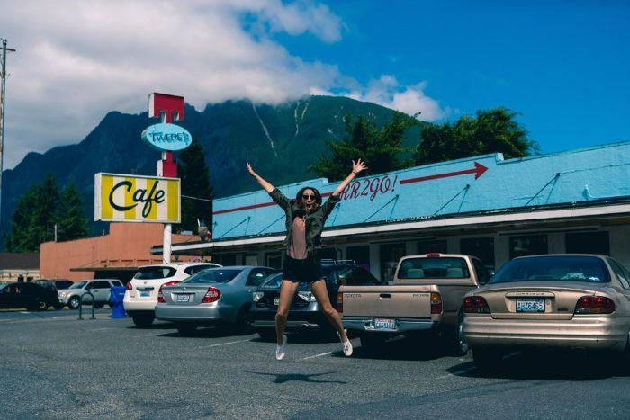 Twin peak's famous cafe