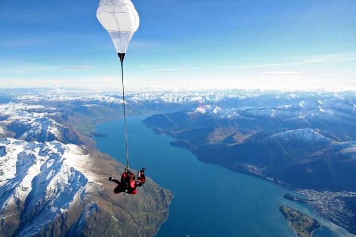 Fox Glacier, New Zealand skydiving