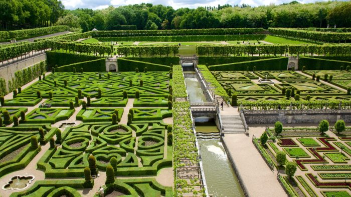 Gardens of Chateau de Villandry, Indre-et-Loire, France