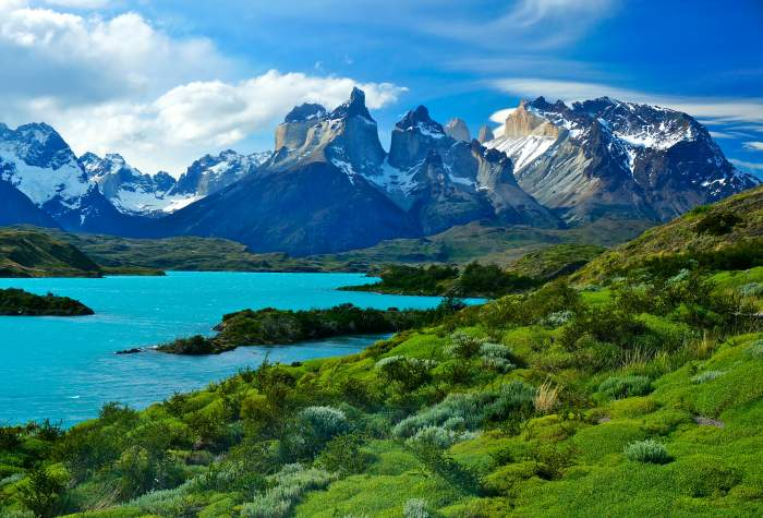 Pehoe Lake, Patagonia, Chile