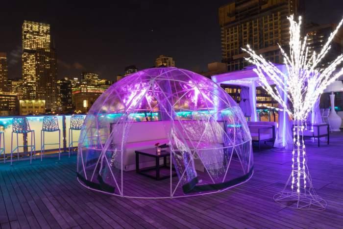 Boston New Rooftop Igloo Bar