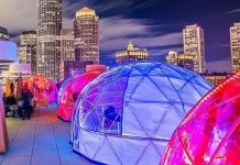 Boston rooftop igloo bar