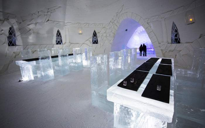 Restaurant in the Game of Thrones Ice Hotel