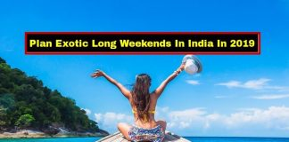 Long Weekends In India 2019